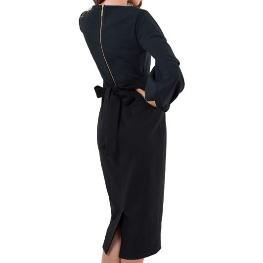 Closet Pleated Long Sleeve Dress