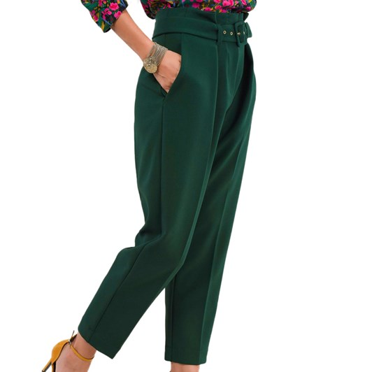 Closet Paper Bag Trousers With Belt