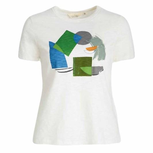 Seasalt Printing Ink T-Shirt Harbour Shapes Heath