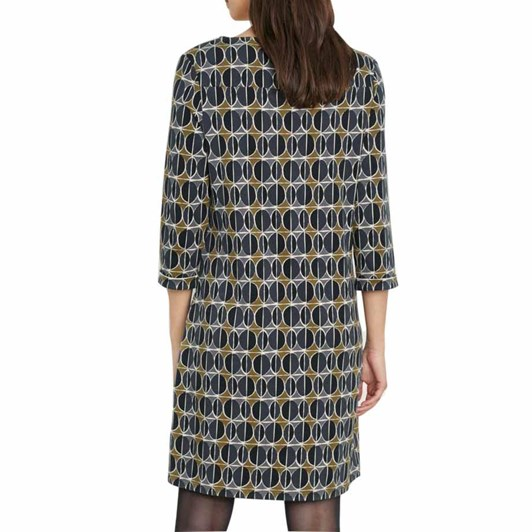 Seasalt Print Makers Dress Printed Circles Coal