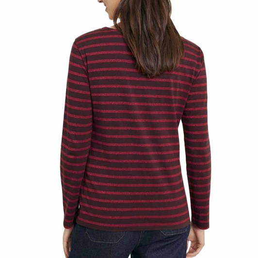 Seasalt Sailor Shirt Breton Bitter Cocoa Rich Red