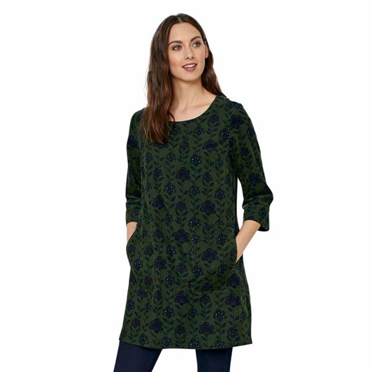 Seasalt Port Gaverne Tunic Block Print Bloom Hosta