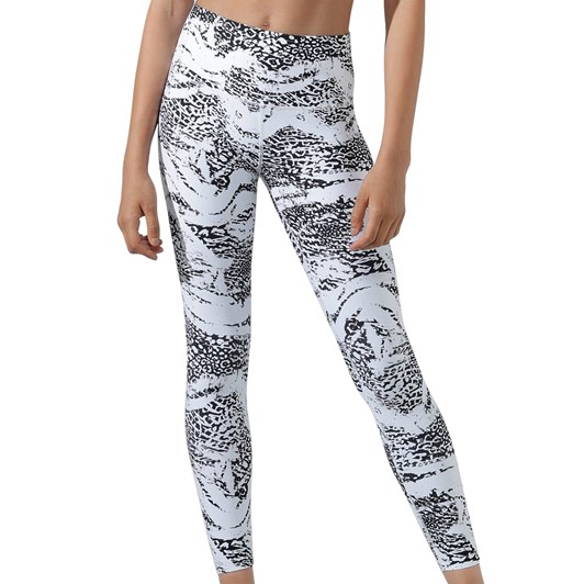 Lorna Jane Snow Leopard Excel Full Length Tight