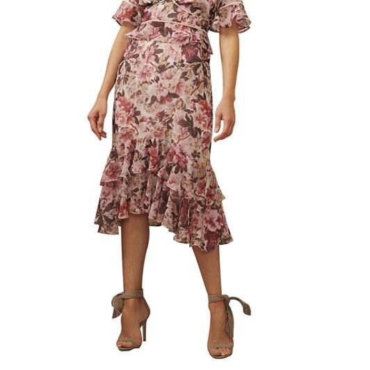 Hope & Ivy Drop Ruffle Midi Skirt