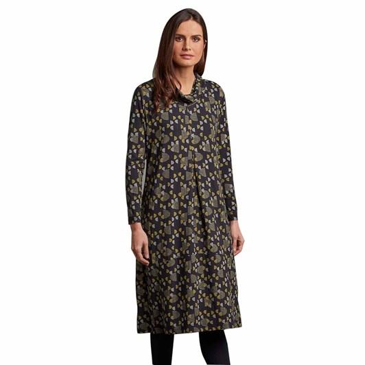 Adini Jolyn Dress Half Moon Print