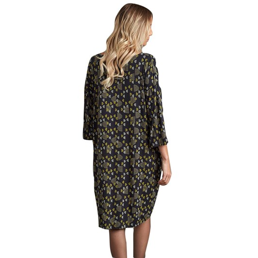 Adini Lucia Dress Half Moon Print