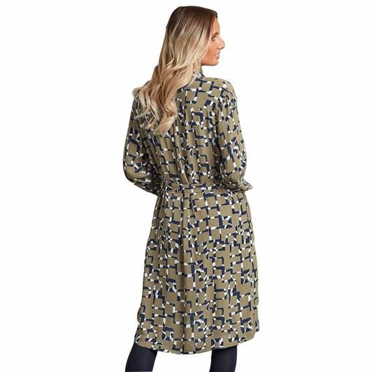 Adini Hilary Dress Maze Print