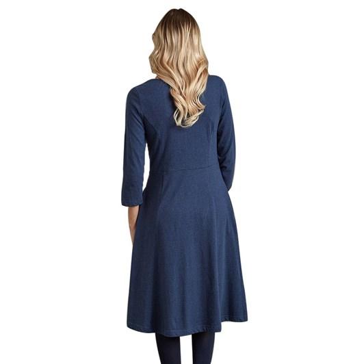 Adini Josie Dress Solid Marled Jersey