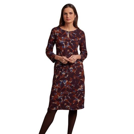Adini Anika Dress Forest Leaf Print