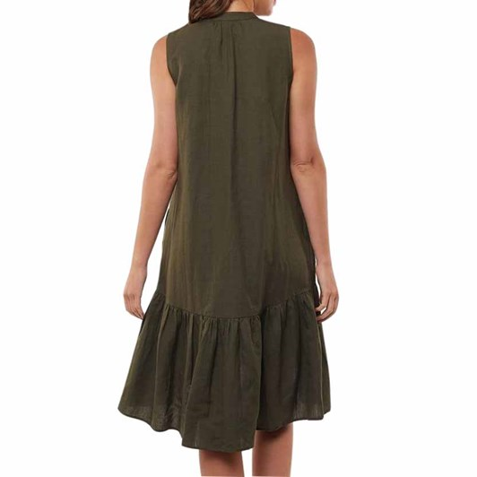 Foxwood Yara Dress Dark Olive