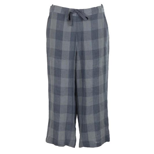 B Essentials Linen Pant Check