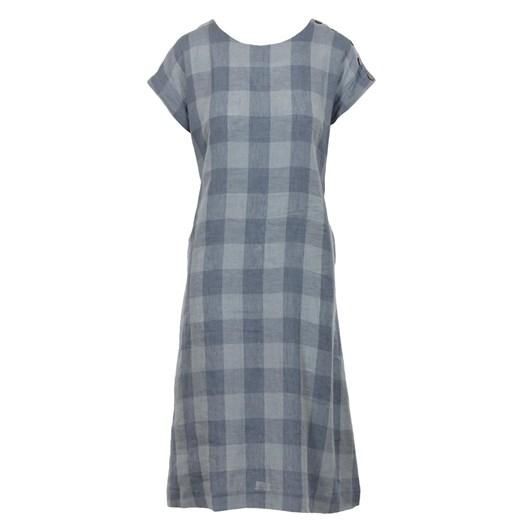 B Essentials Linen Dress Check