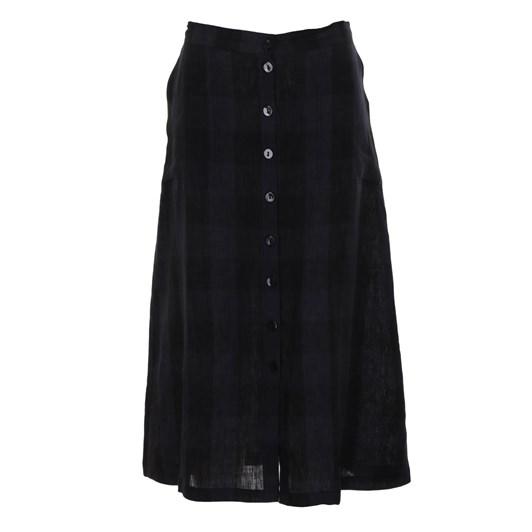 B Essentials Skirt Check Linen