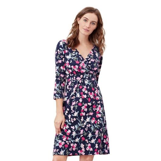 Joules Jude Print 3/4 Sleeve Dress