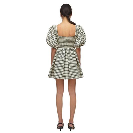 Self Portrait Monochrome Check Mini Dress