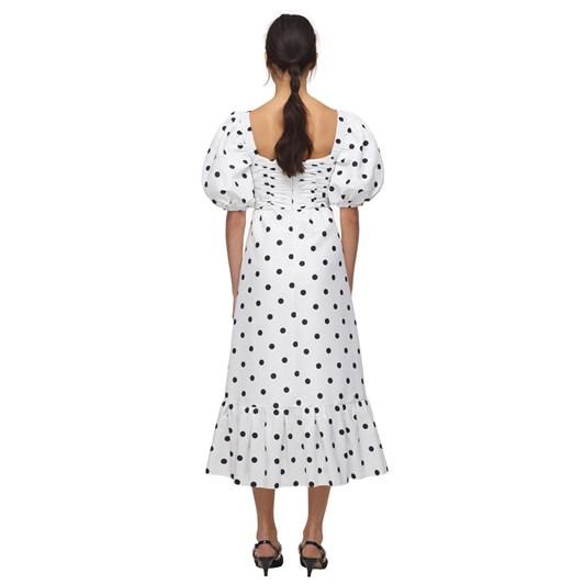 Self Portrait Polka Dot Taffeta Midi Dress