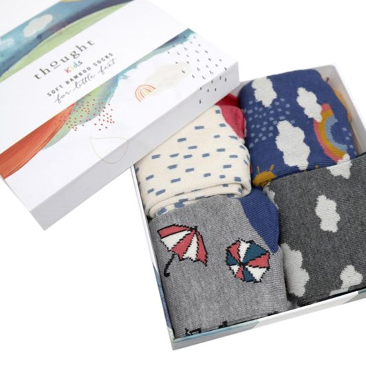 Thought Overcast Kids Sock Box
