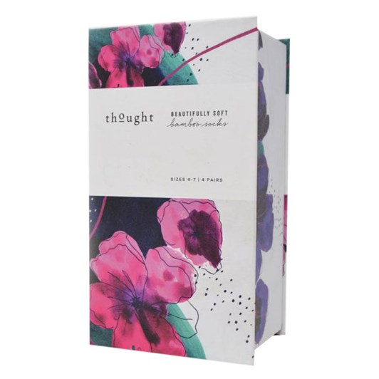 Thought Mariot Floral & Spot 4 Pack Sock Gift Box