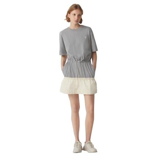 KENZO Dual-Material T-Shirt Dress