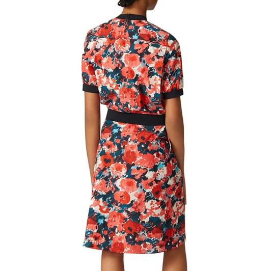 KENZO Aquarelle Fitted Midi Dress