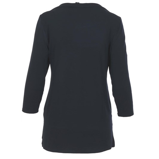 Paula Ryan Wrapover Boat Neck ¾ Sleeve Top