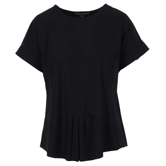 Paula Ryan Stepped Front Cuffed Sleeve Top