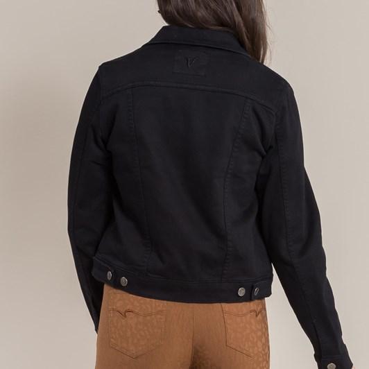 Vassalli Long Sleeve Knit Denim Jacket
