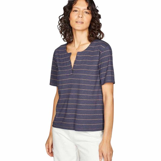 Thought Cecilia Notch Neck Tee