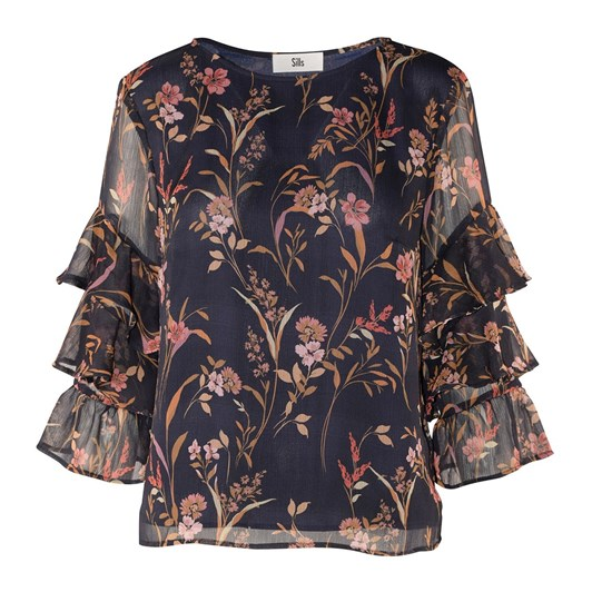 Sills Amy Floral Ruffle Top