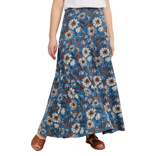 Seasalt Stratus Skirt Ii Sketched Border Slipware Sailor