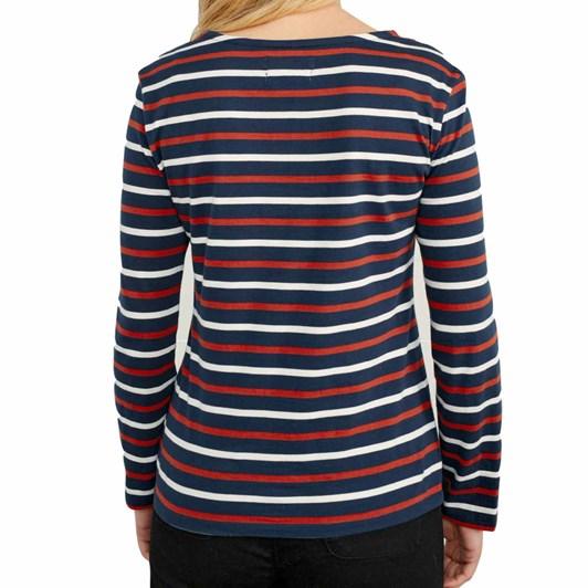 Seasalt Sailor Shirt Duet Breton Dark Cinnamon