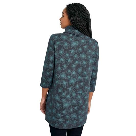 Seasalt Gwenver Sweatshirt Linear Blooms Granite