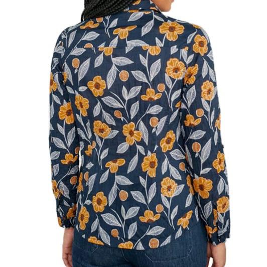 Seasalt Larissa Shirt Painted Flowers Waterline