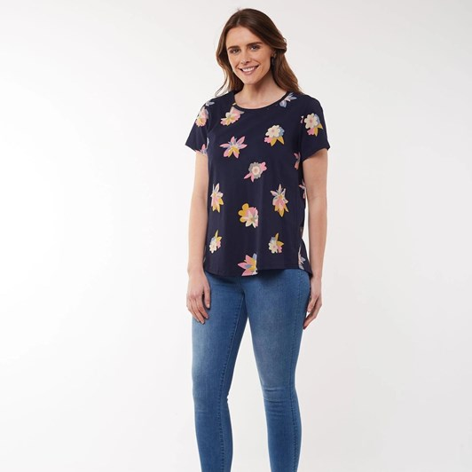 Elm Abstract Floral S/S Top