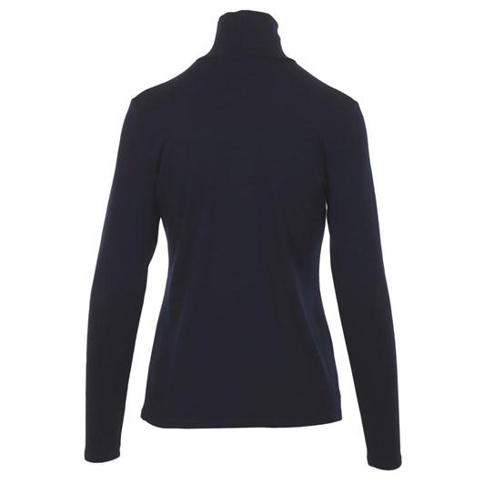 Paula Ryan Easy Fit Long Sleeve Polo Neck Top