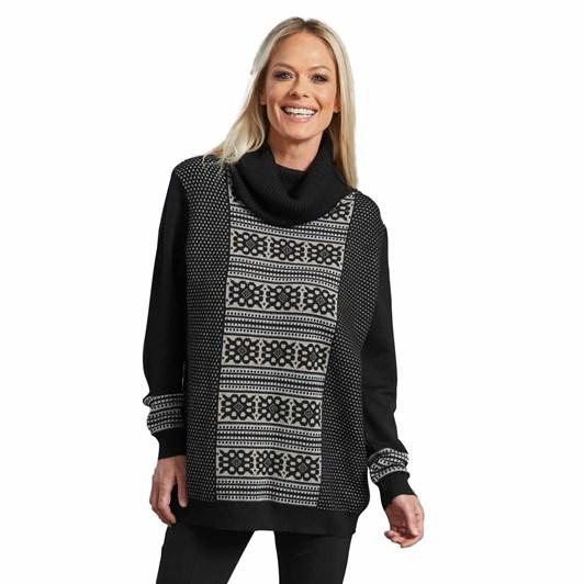 Paula Ryan Jaquard Front Sweater