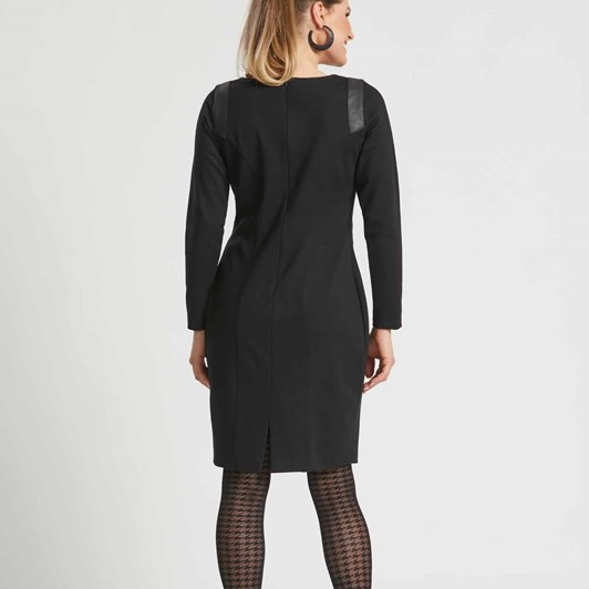 Paula Ryan Leather Trim Roma Dress