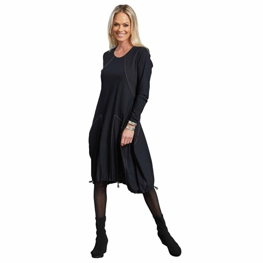Paula Ryan Top Stitched Spliced Dress