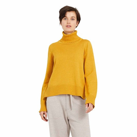 Standard Issue Crop Funnel Neck Jumper, 100% Merino