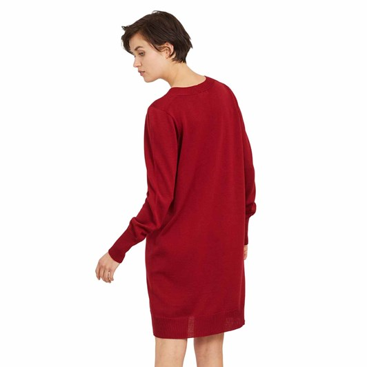 Standard Issue Deep V Dress, 100% Merino