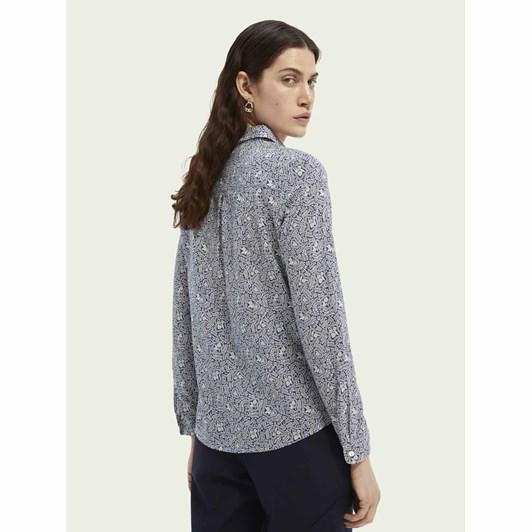 Maison Printed Regular Fit Shirt