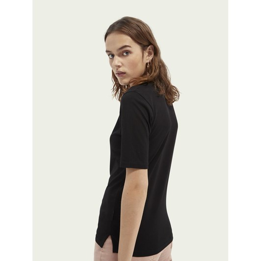 Maison Fitted High Neck Tee