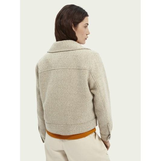 Maison Wool Blend Trucker Jacket