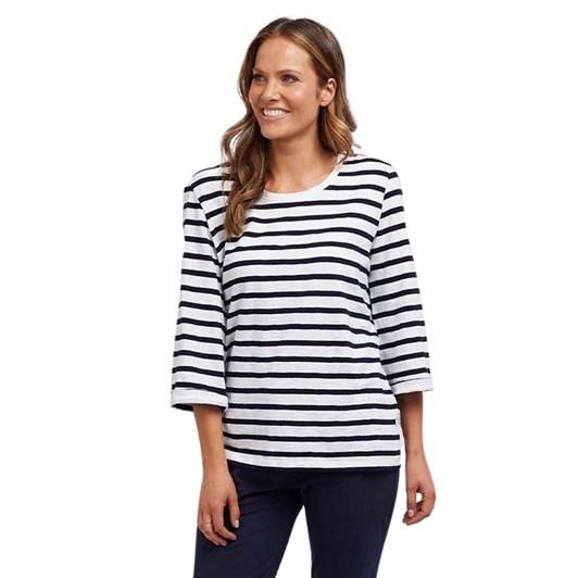 Elm Riviera 3/4 Sleeve Top - Stripe