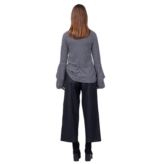 Mild Red Dividing Line Tailored Wide Leg Trousers