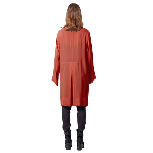 Mild Red Network Layering Top Overdress