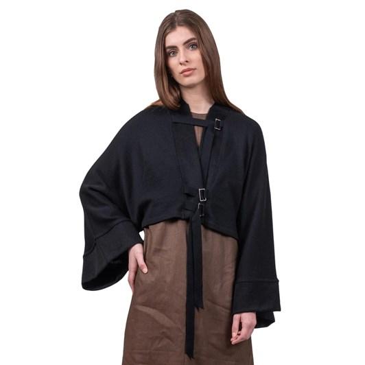 Mild Red Connections Kimono Merino Knit Jacket