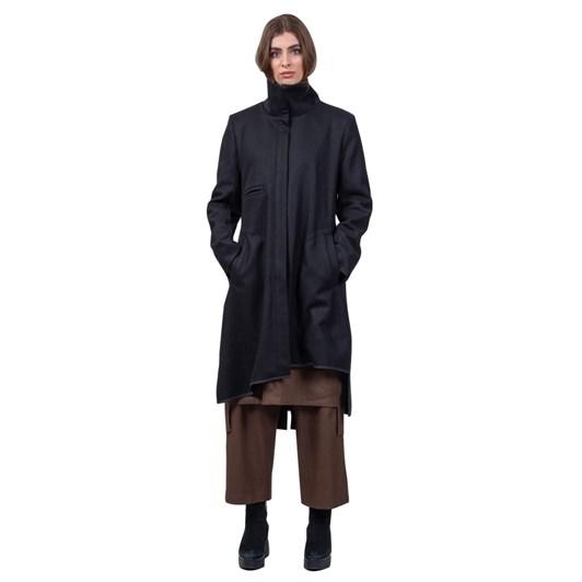 Mild Red Chart Pilot Wool Coat