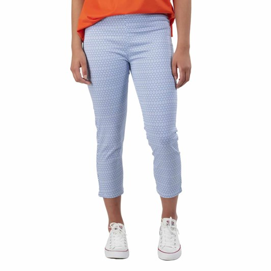 Vassalli Printed Skinny Leg 7/8 Length Lightweight Pull On