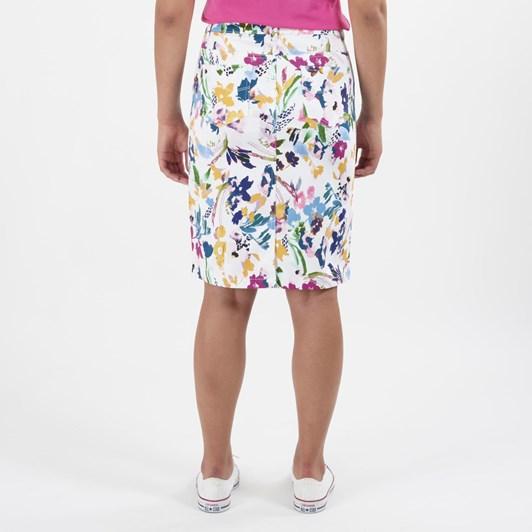 Vassalli Denim Skirt With Back Vent